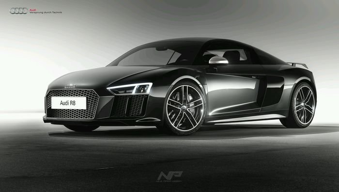 Latest 3D Rendering Of The Audi R8 V10 Plus Rendered In Free Download