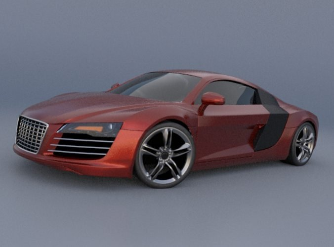 Latest Audi R8 Sports Car 3D Model Obj 3Ds Fbx Lwo Lw Lws Free Download