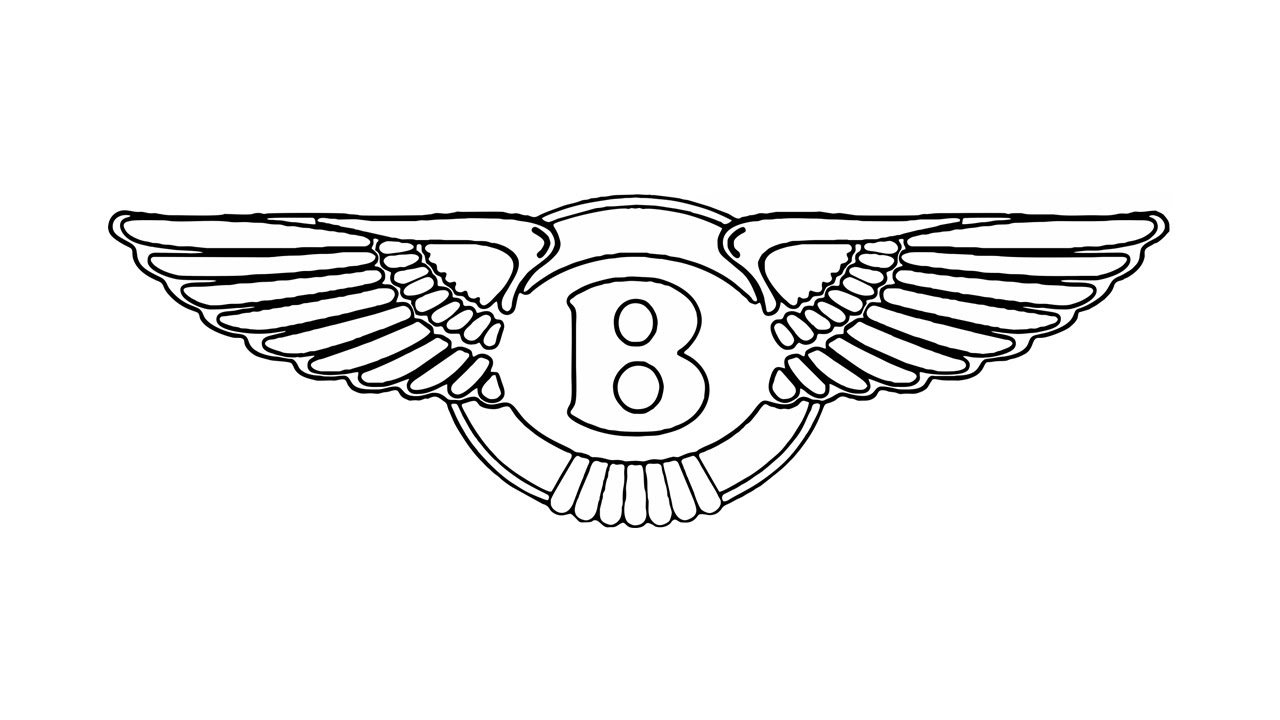 Latest How To Draw The Bentley Logo Symbol Emblem Youtube Free Download