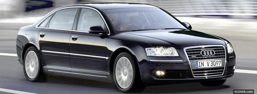 Latest Black Audi A8 Car Photo Facebook Cover Free Download