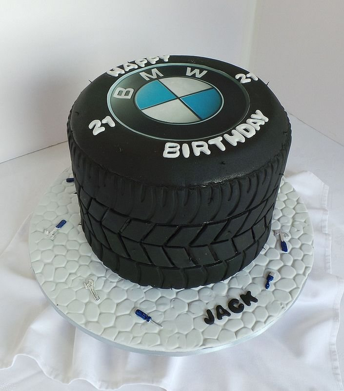 Latest 21St Bmw Tyre Themed Birthday Cake Willi Probst Bakery Free Download