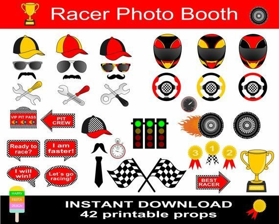 Latest Printable Racer Photo Booth Props–Photo Booth Sign Free Download Original 1024 x 768