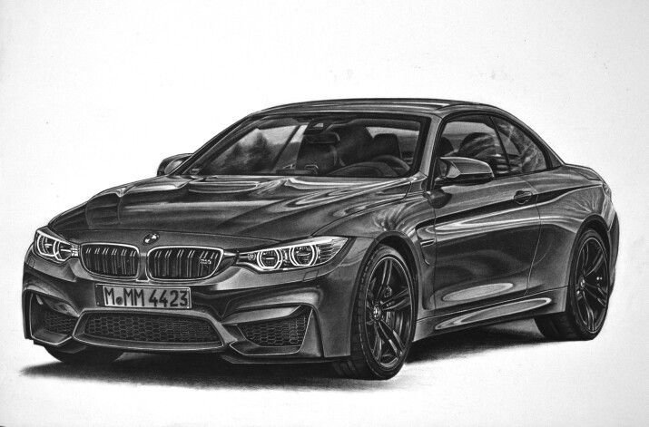 Latest Bmw M4 Pencil Drawing Pencil Drawings Pinterest Free Download