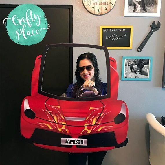 Latest Hot Wheels Car Photo Booth Cutout Frame Prop Free Download