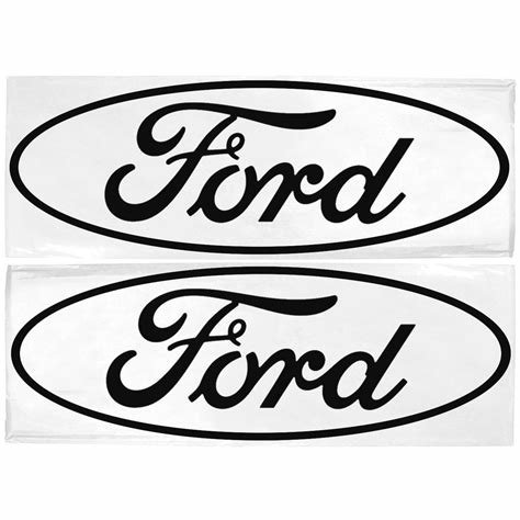 Latest Graphic Express N300 P Bk Decal Ford Oval Logo Black 3 X Free Download