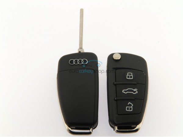 Latest Audi Flip Remote Key Case 3 Buttons New Shape For Q7 Free Download