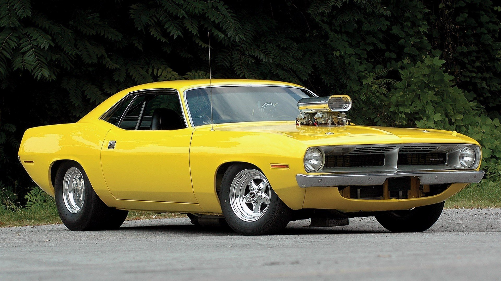 Latest Plymouth Barracuda Hot Rod Tuning Yellow Classic Free Download