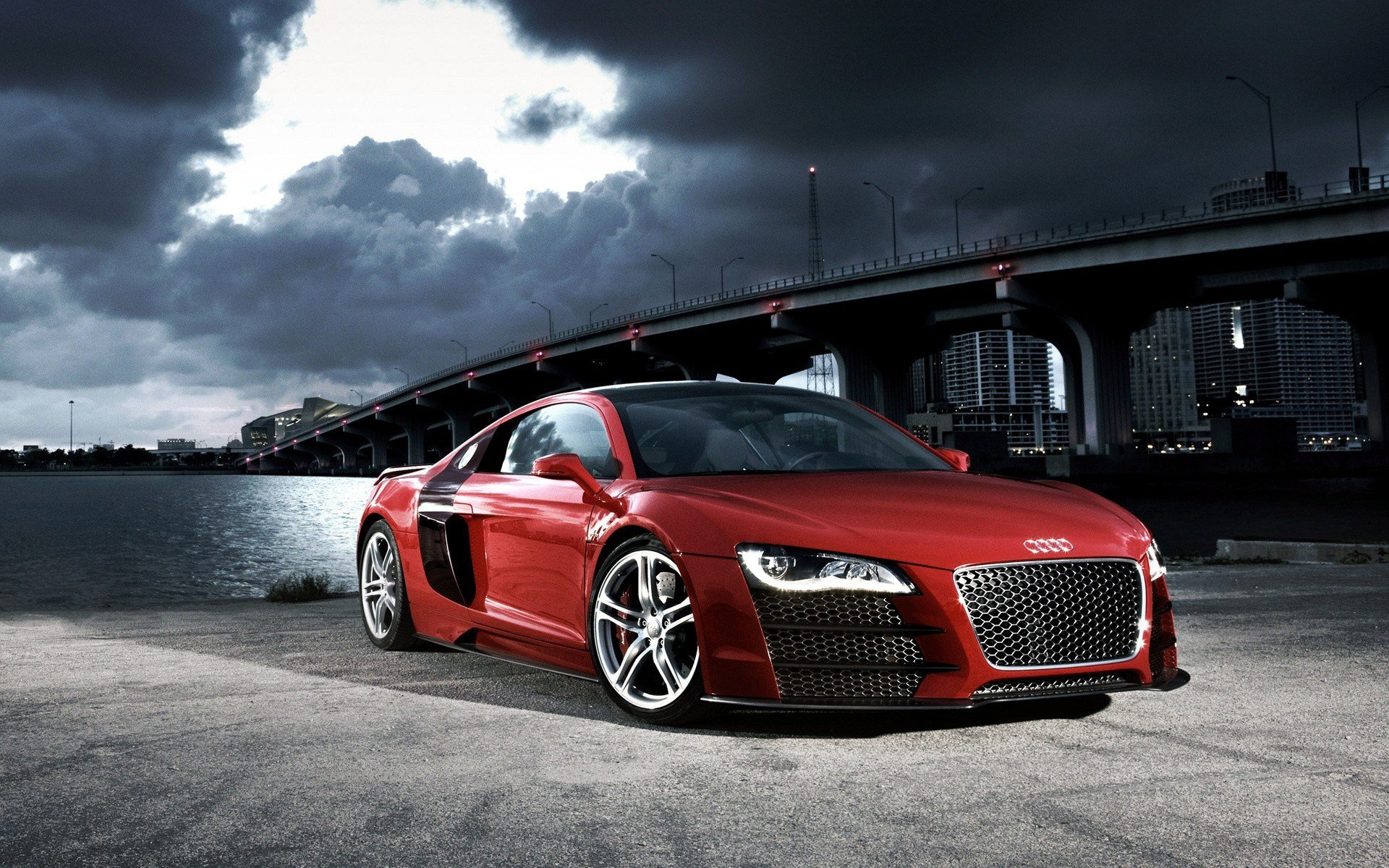 Latest Audi R8 Red Sports Car Marriage Proposal Idea Free Download