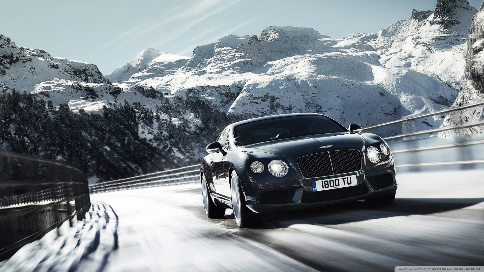 Latest 2012 Bentley Continental V8 Winter Mountain 4K Hd Free Download