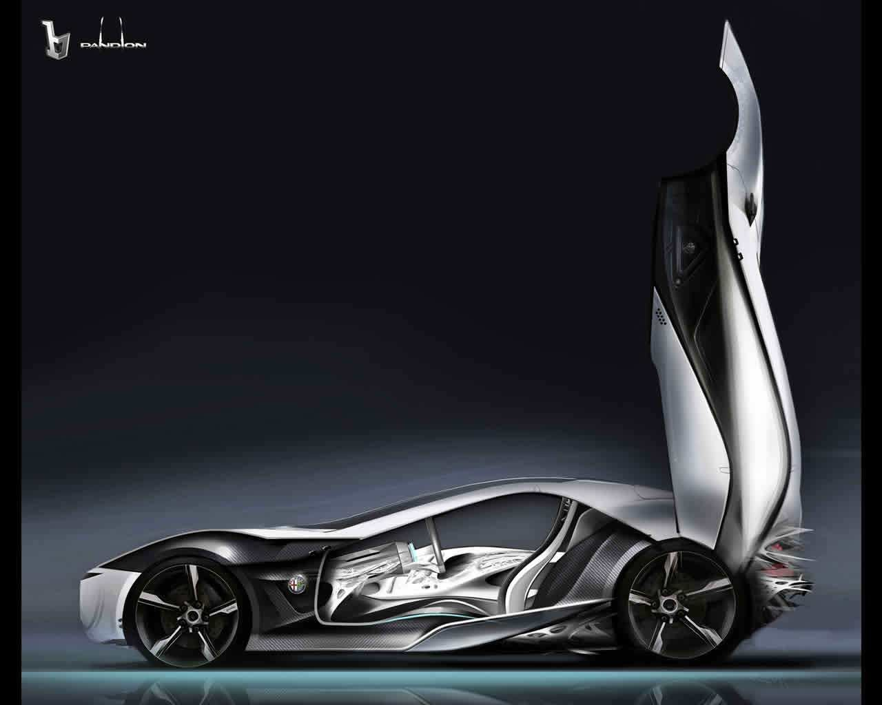 Latest Bertone Pandion Alfa Romeo Concept 2010 Free Download