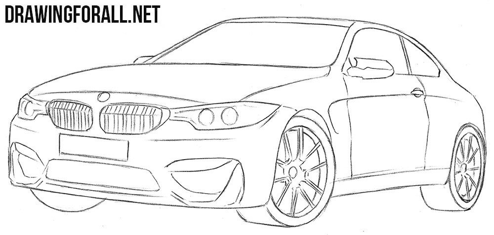 Latest How To Draw A Bmw M4 Drawingforall Net Free Download