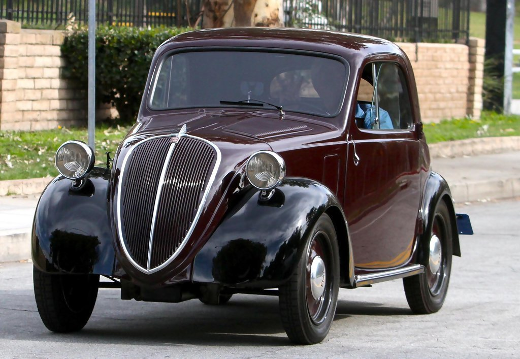Latest Jay Leno In Jay Leno Showing Off His Classic Fiat Car Zimbio Free Download