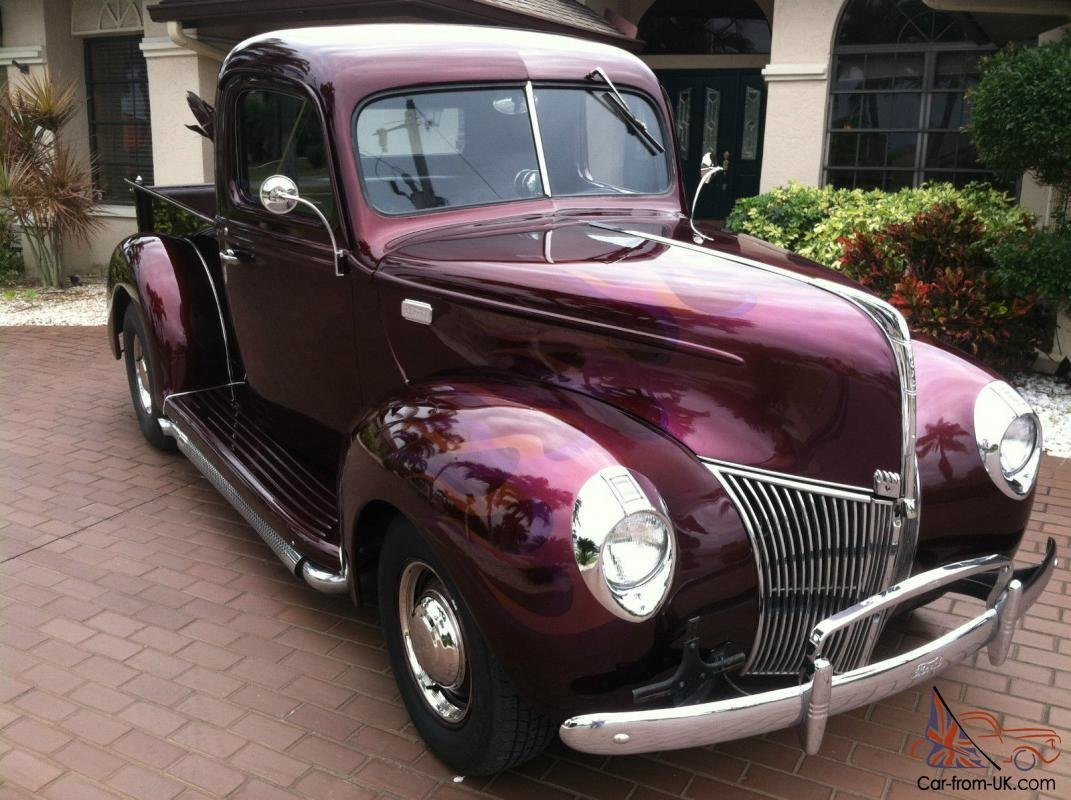 Latest 1940 Ford Pick Up Excellent Paint Interior Free Download Original 1024 x 768
