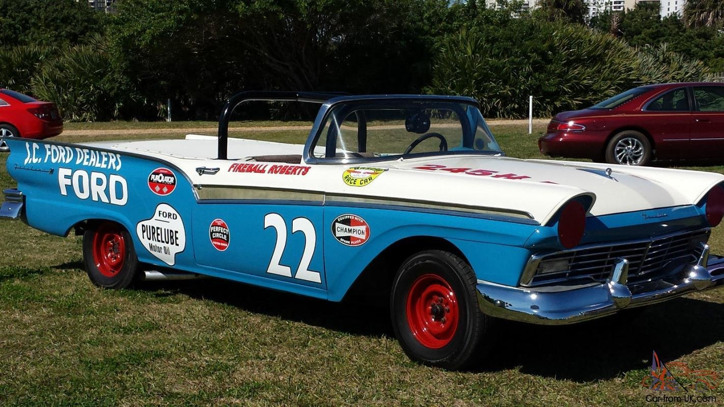 Latest 1957 Ford Fairlane Nascar Tribute To Fireball Roberts Free Download