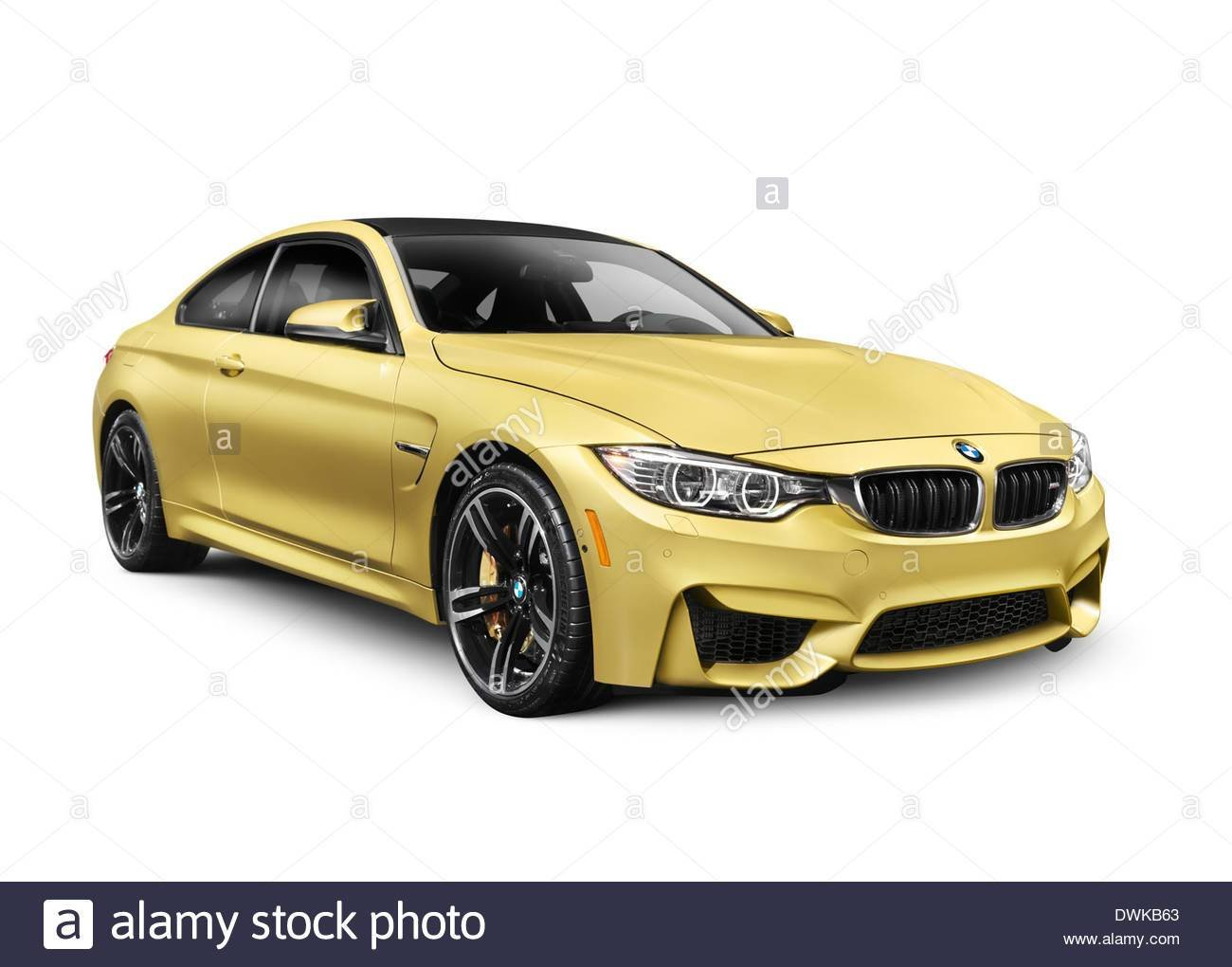 Latest Gold 2015 Bmw M4 Coupe Performance Car Isolated On White Free Download