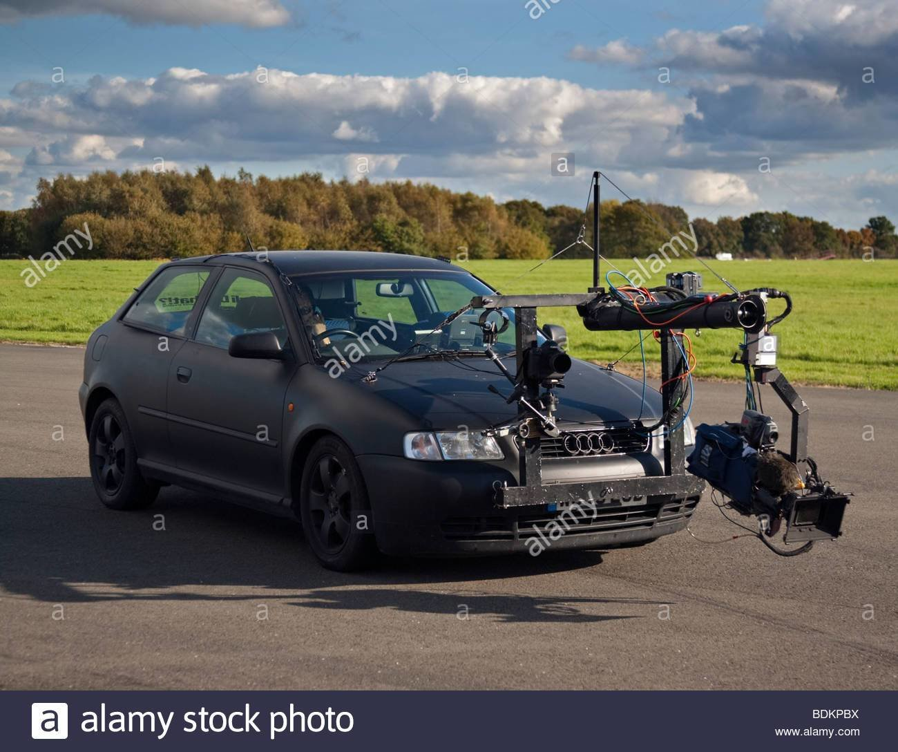 Latest Audi Car Fitted With Video Camera Equipment For Making A Free Download