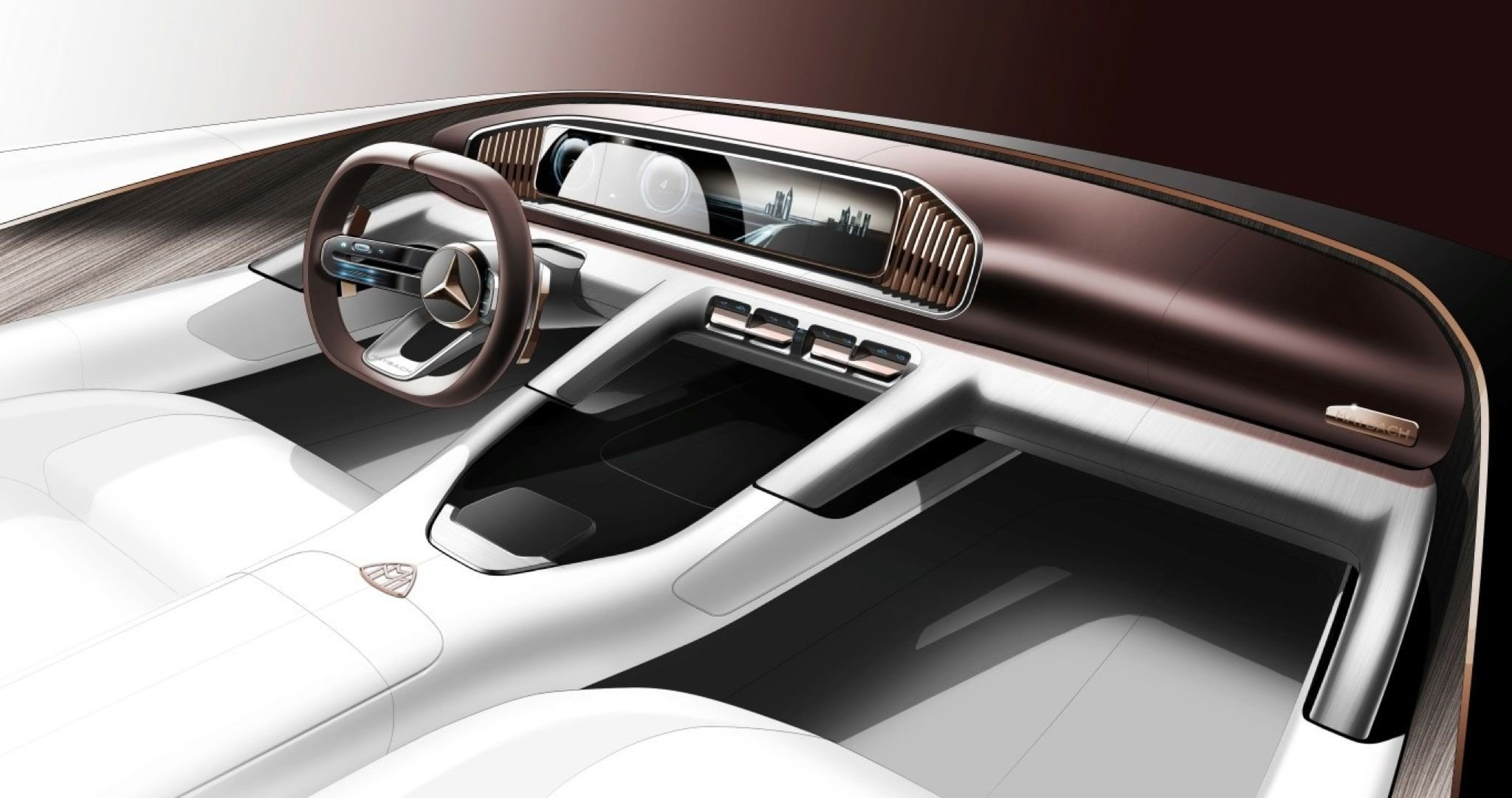 Latest Mercedes Maybach Suv Concept's Interior Teased Free Download