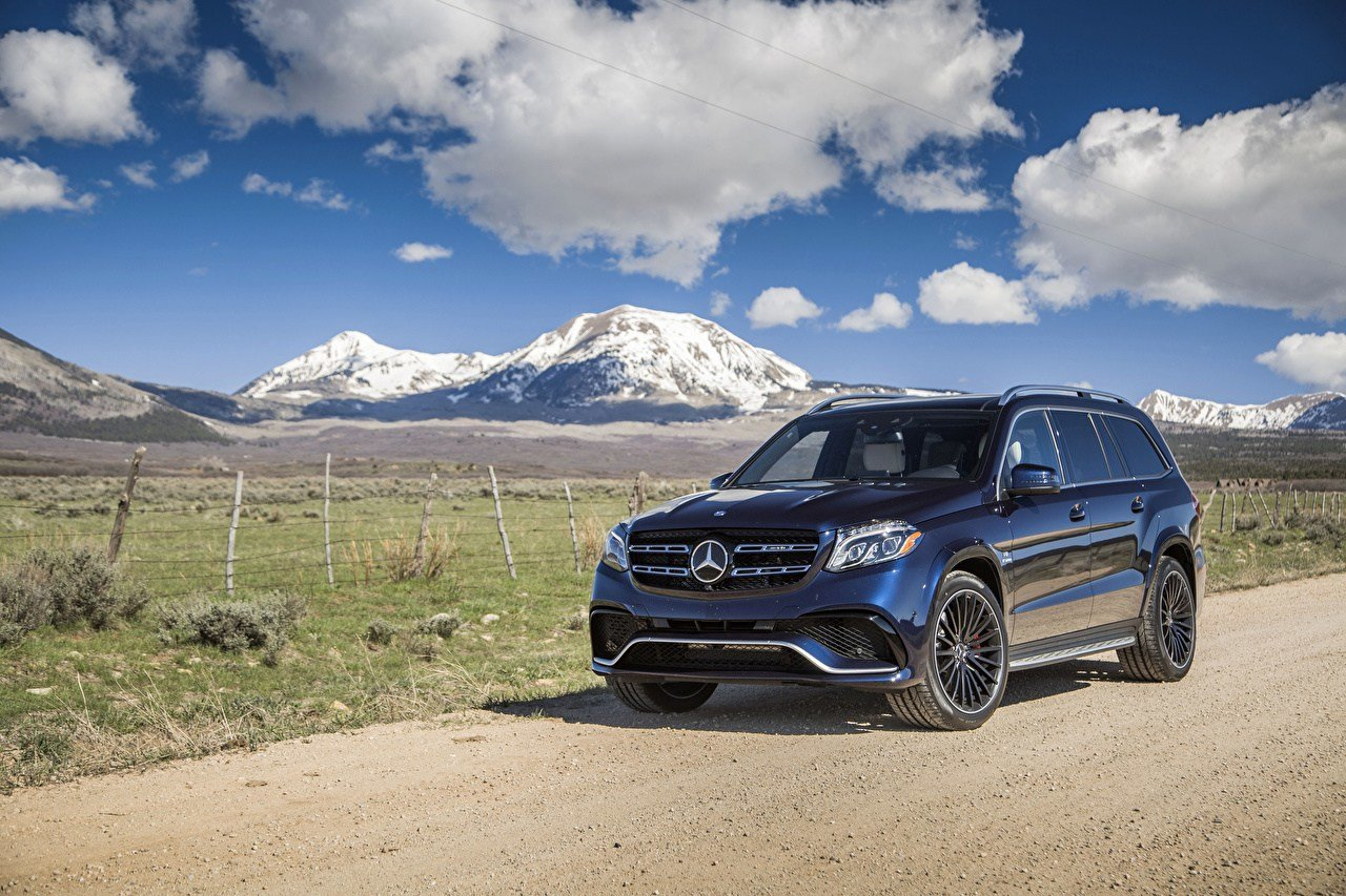 Latest Wallpaper Mercedes Benz 2017 Amg Gls 63 4Matic Blue Cars Free Download