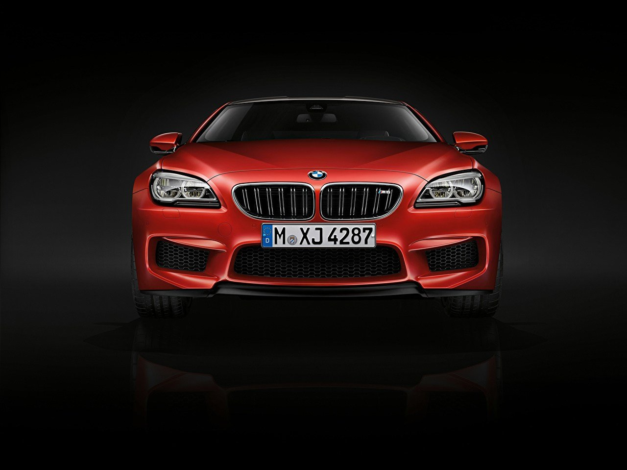 Latest Images Bmw 2015 M6 Coupe F13 Red Auto Front Black Background Free Download