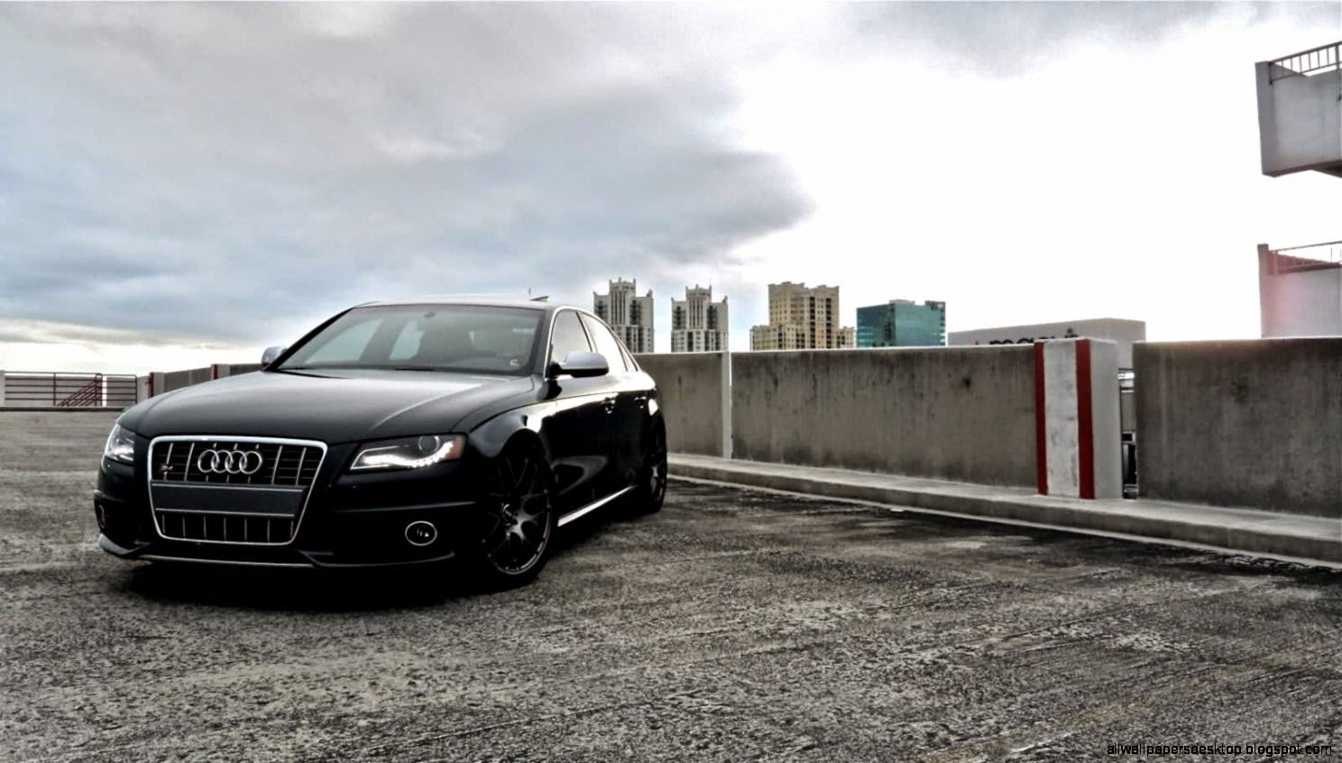 Latest Audi A4 In City Wallpaper Hd All Wallpapers Desktop Free Download