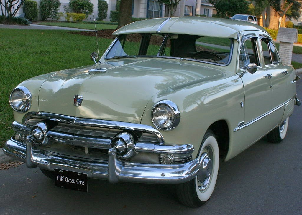 Latest All American Classic Cars 1951 Ford Custom Deluxe Fordor Free Download Original 1024 x 768