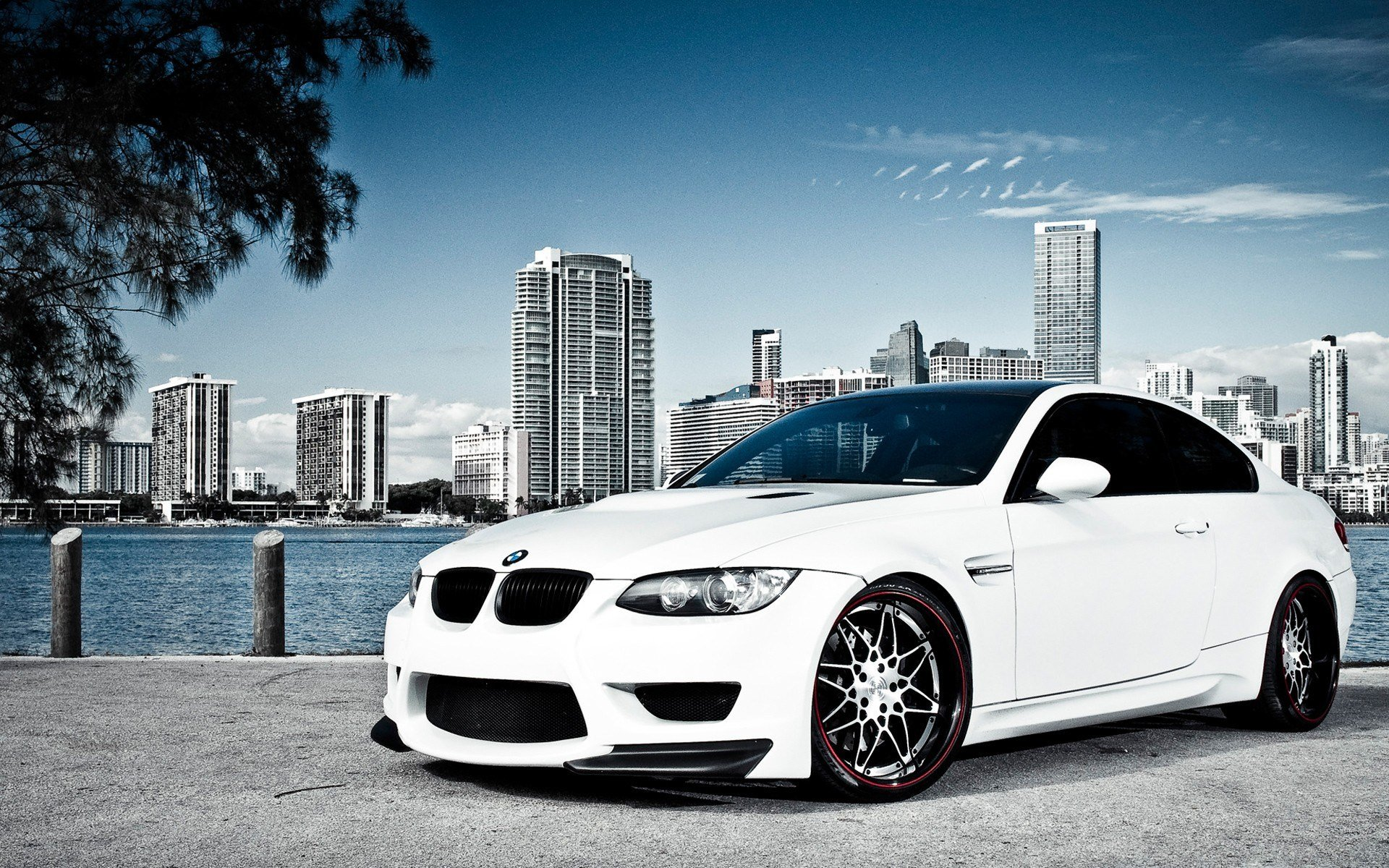 Latest White Bmw M3 Over Miami Wallpaper Hd Car Wallpapers Id Free Download