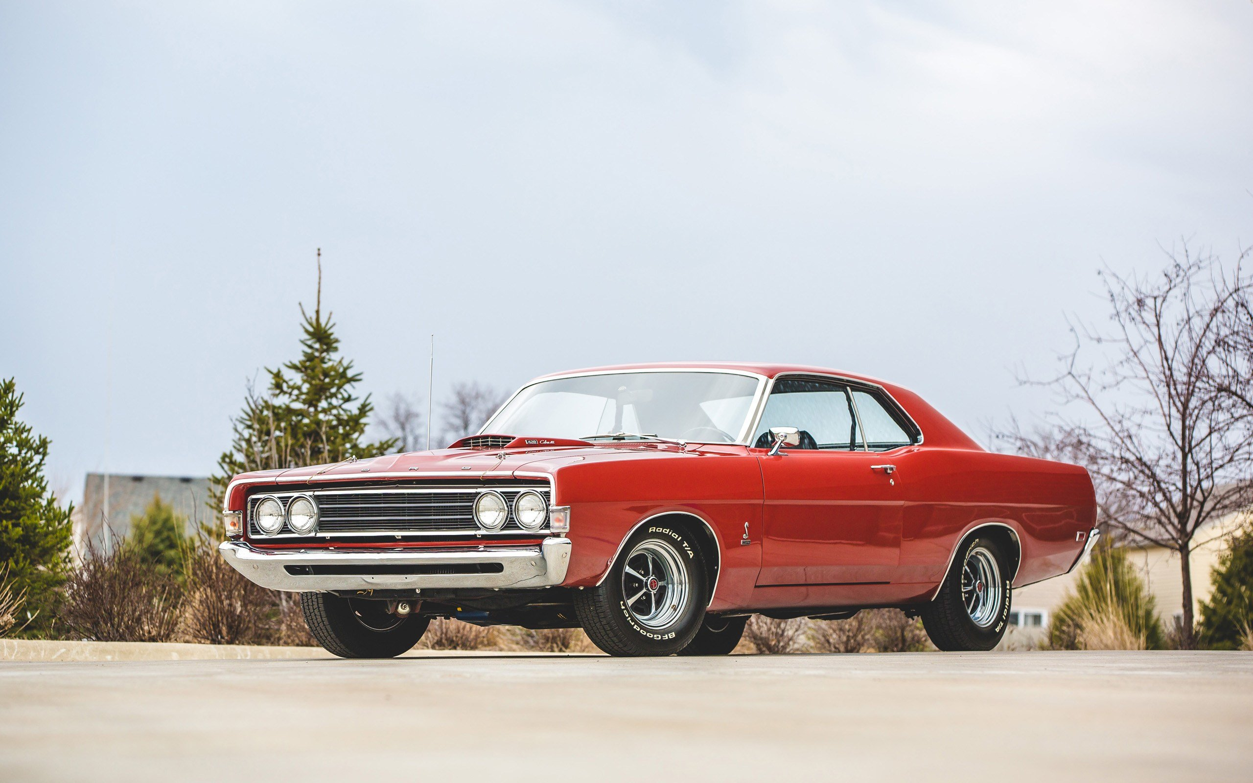 Latest 1969 Ford Torino Cobra Indian Fire Red Wallpaper Hd Car Free Download
