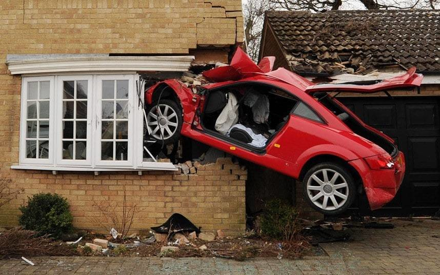 Latest Audi Tt Takes Off And Crashes Into House Telegraph Free Download