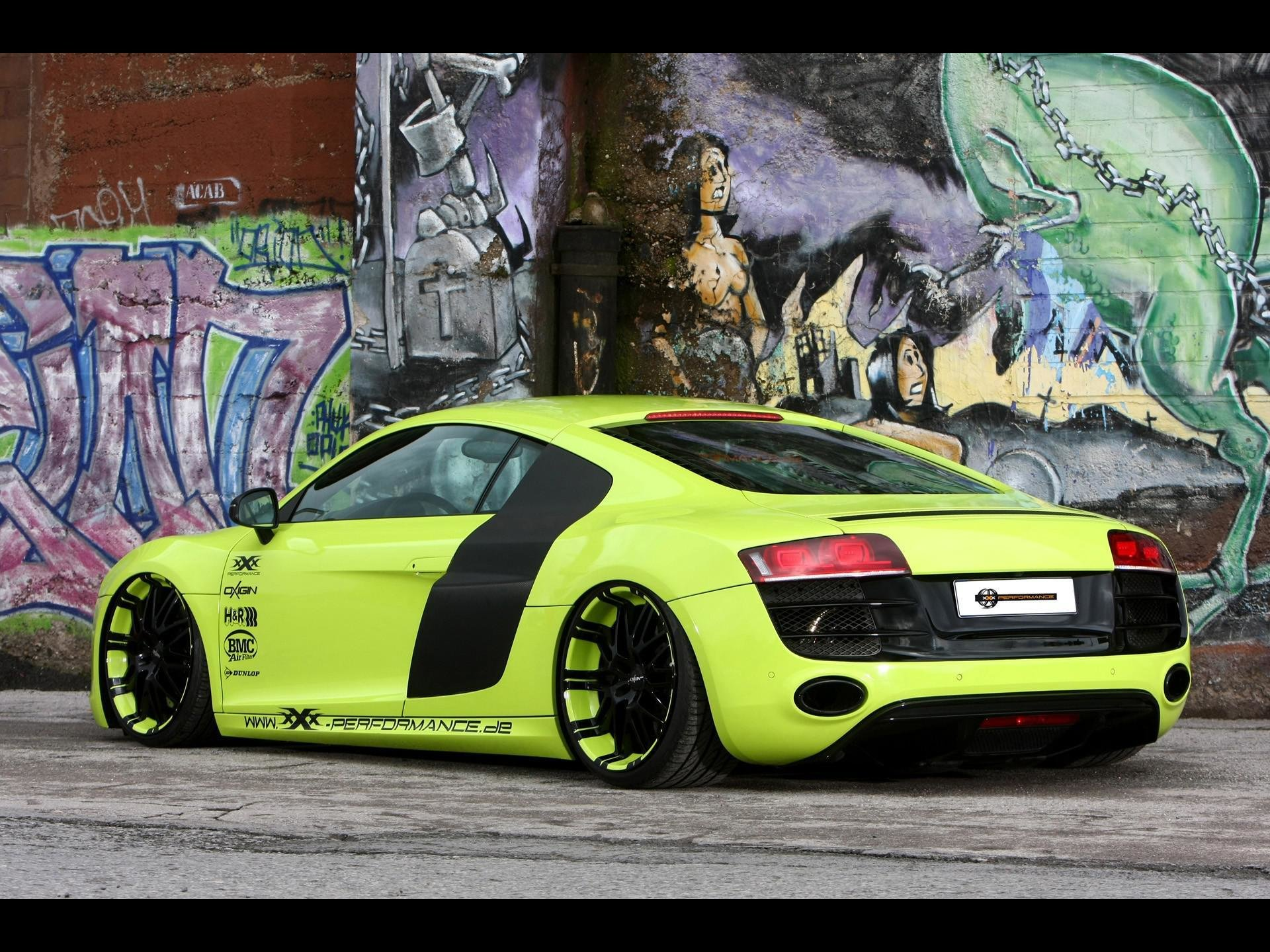 Latest Hd Cars Audi Supercars Tuning Performance R8 Static Green Free Download