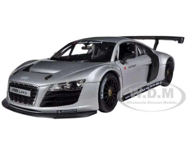Latest Audi R8 Lms Silver 1 24 Diecast Model Car By Rastar 56100 Free Download