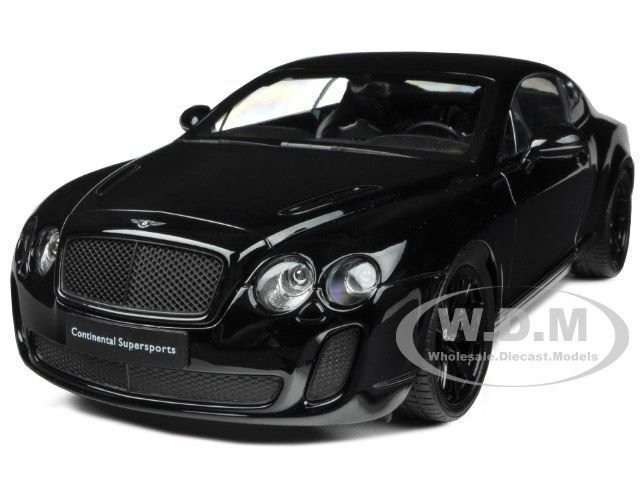 Latest Bentley Continental Supersports Black 1 18 Diecast Model Free Download