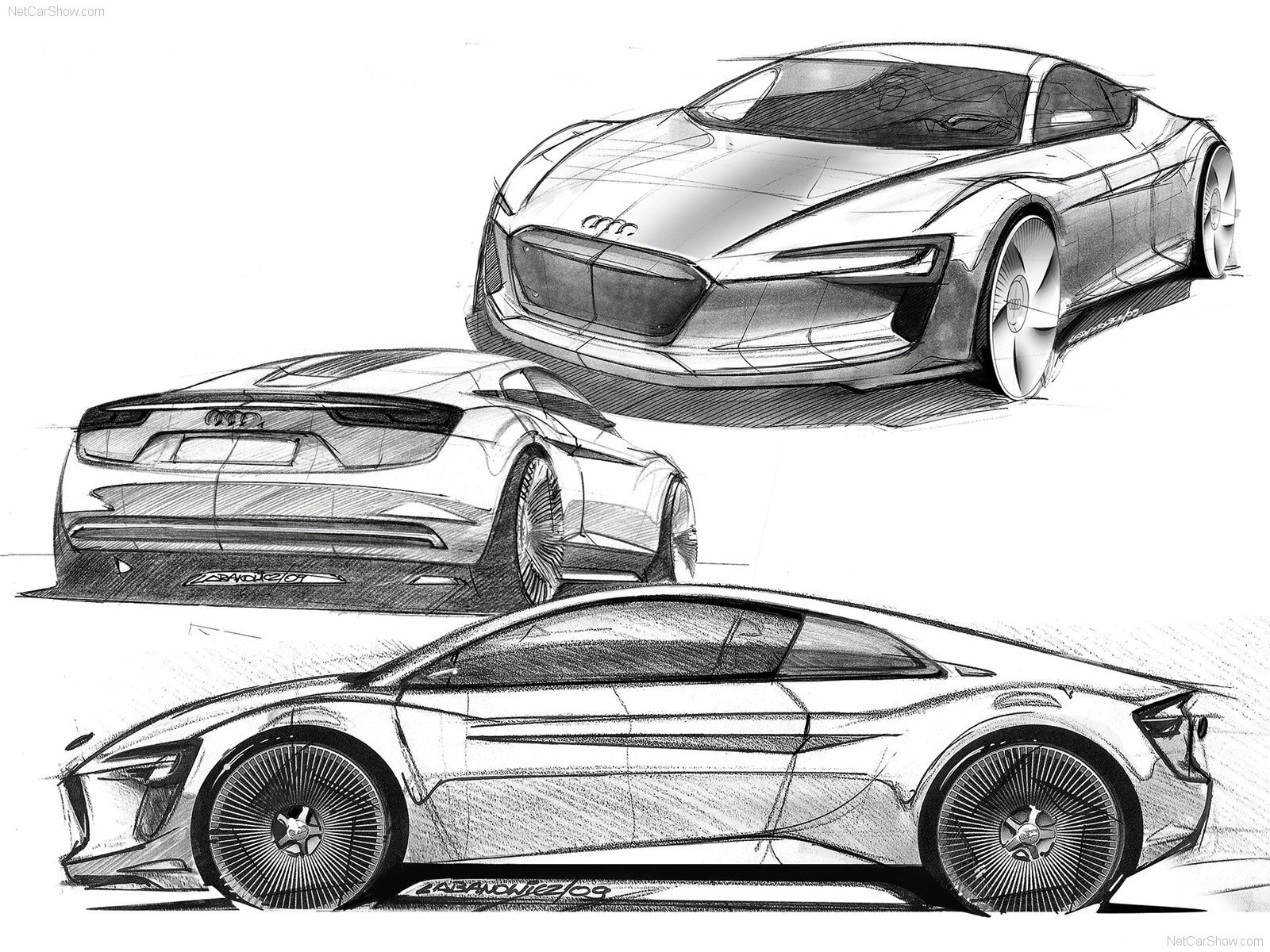 Latest Audi Concept Car Drawing Audi A1 E Tron Concept Free Download