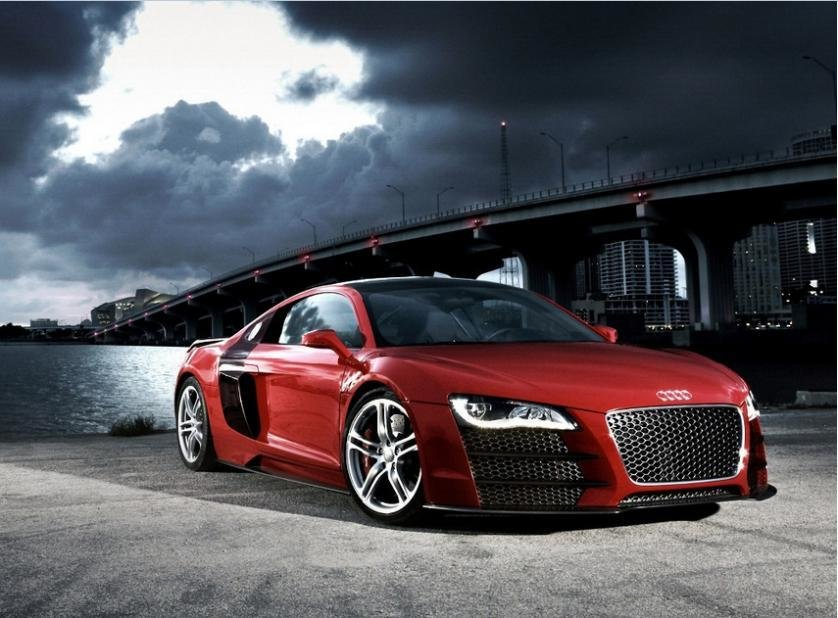 Latest Audi R8 Red Sport Car Music Home Decoration Wall Sticker Free Download