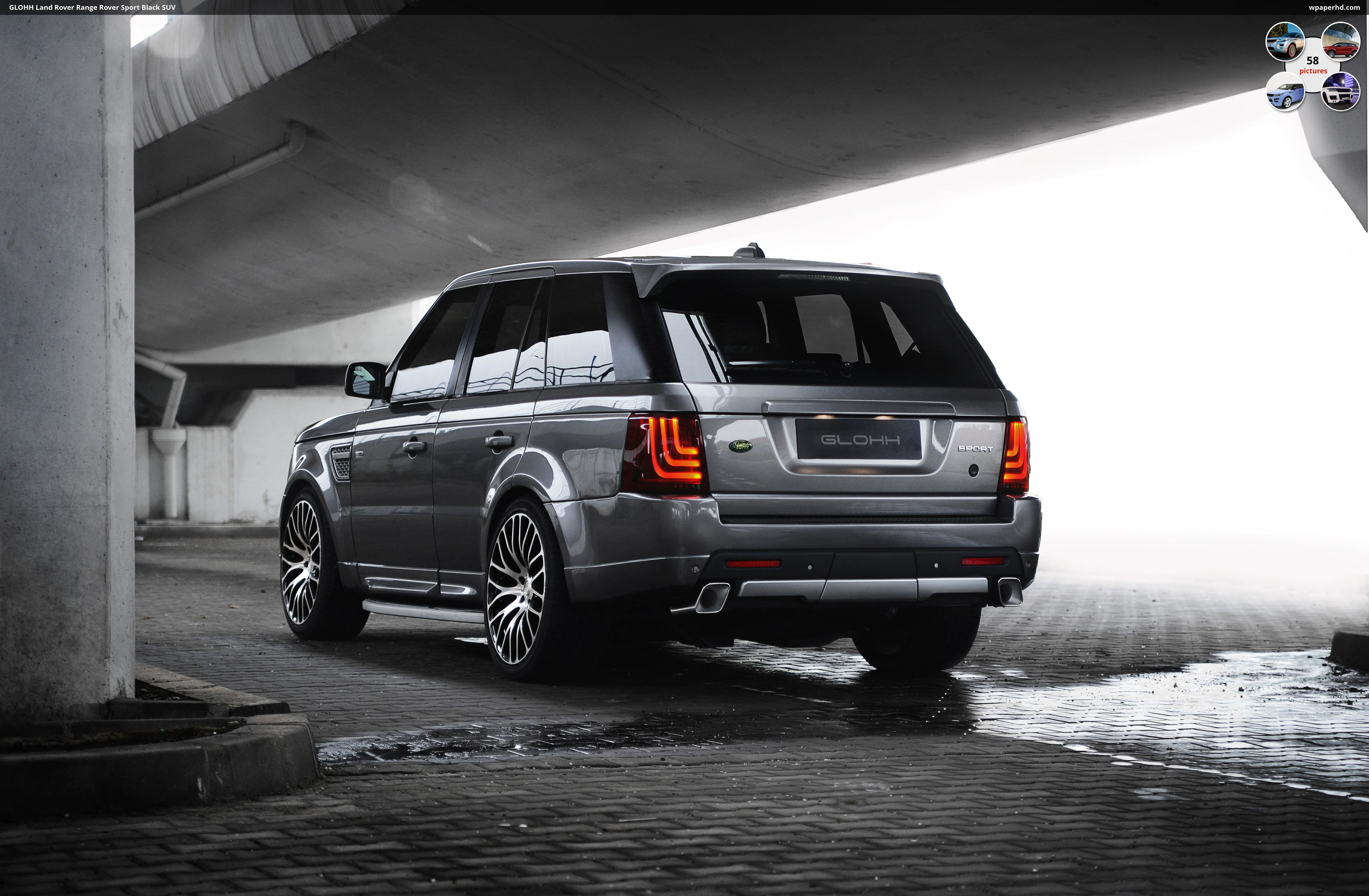 Latest Glohh Land Rover Range Rover Sport Black Suv Wallpaper Free Download