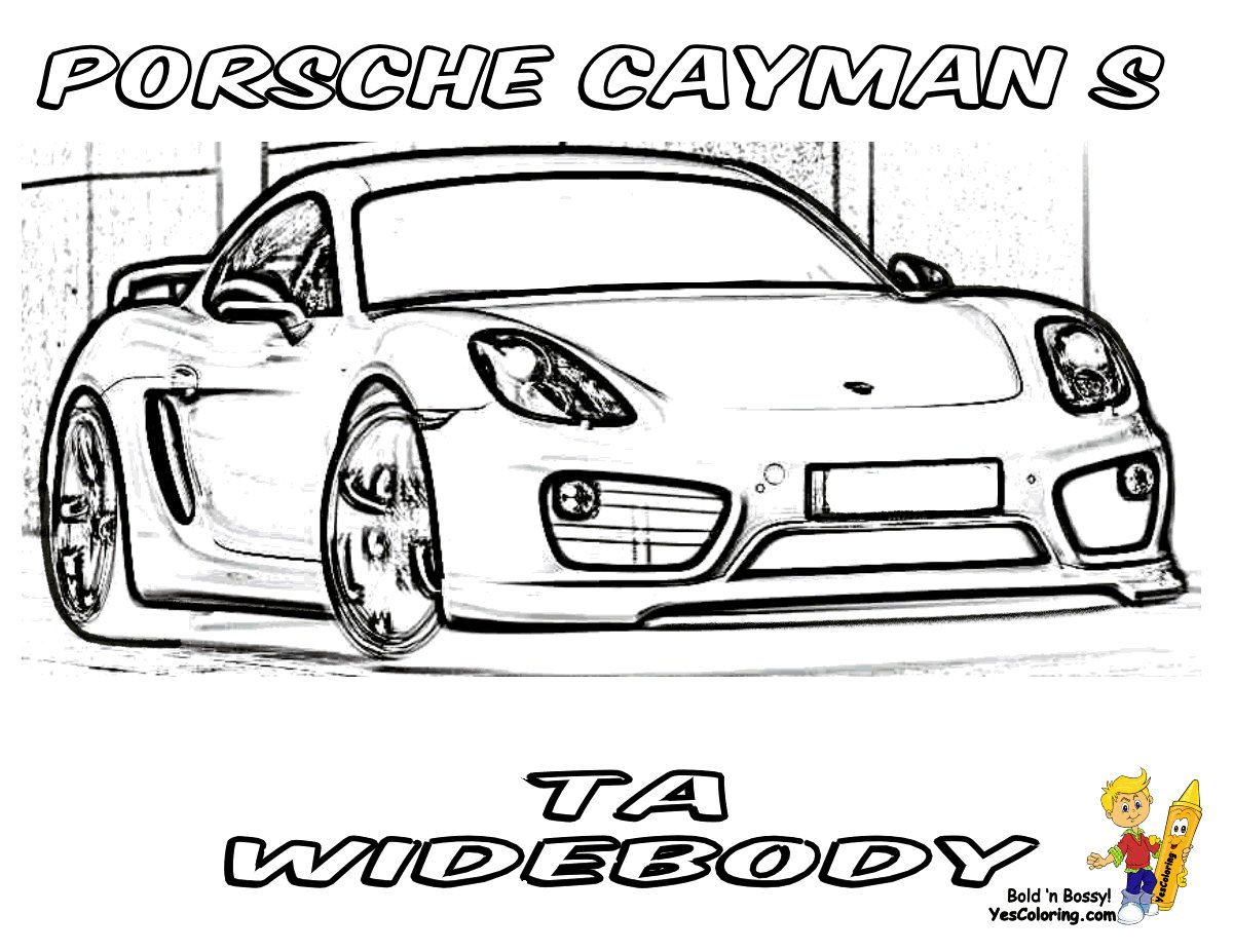 Latest Gusto Car Coloring Pages Porsche Corvette Free Free Download