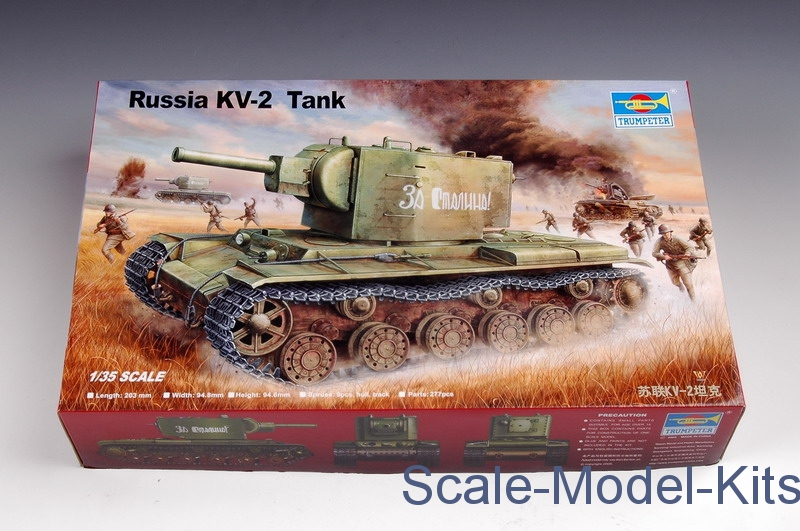 Trumpeter - 1/35 Trumpeter 00312 - Russian KV-2 Tank - plastic scale model kit in 1:35 scale (TR00312)//Scale-Model-Kits.com