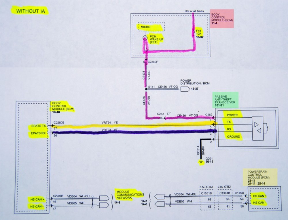 medium resolution of wiring diagram for the transceiver bcm and pcm circuits notice the lack of signal information in this schematic it s