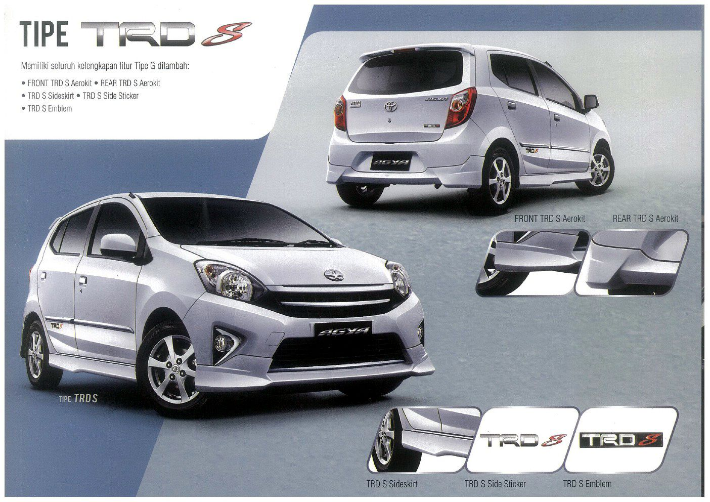 spesifikasi new agya trd all toyota yaris sportivo 2018 type s