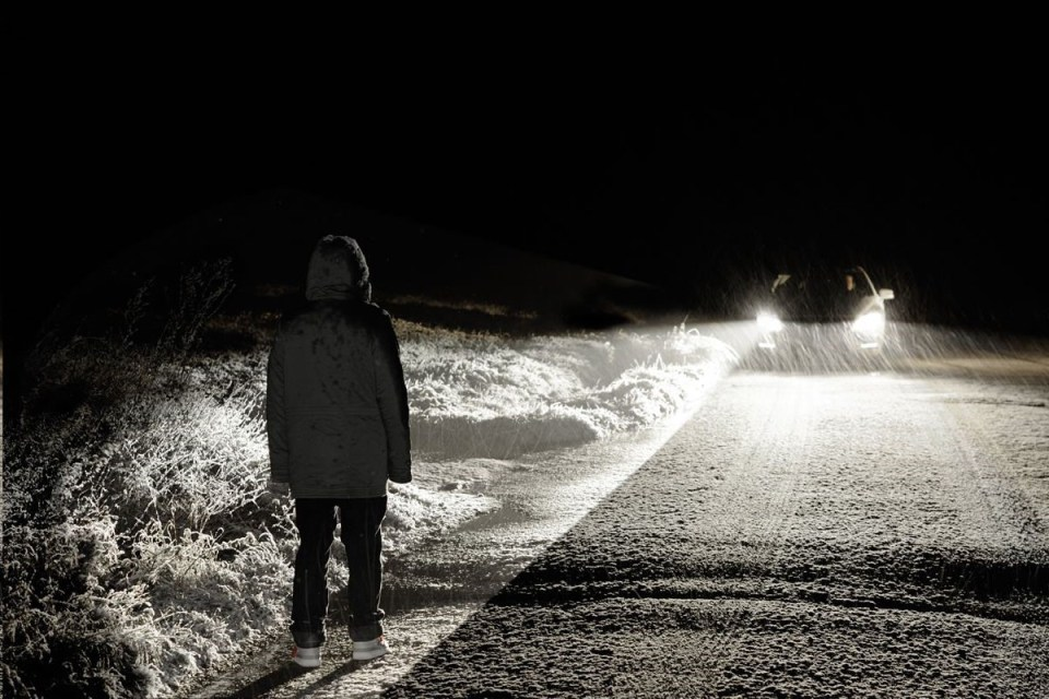 Опасное вождение ночью, фото