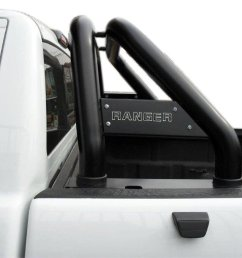 ford ranger t6 black powder coated roll bar fits single cab double cab and extended cab [ 1024 x 768 Pixel ]