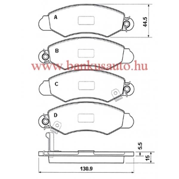 Fékbetét első Suzuki Wagon R+ /55810-83E00/