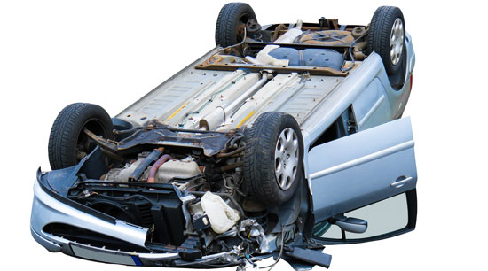 Poor highway driving safety habits resulting in accident