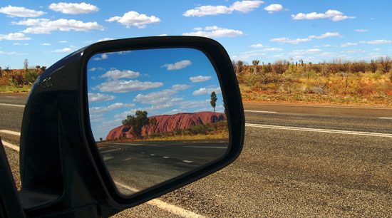 Highway driving safety rear view mirror position to eliminate blind spots