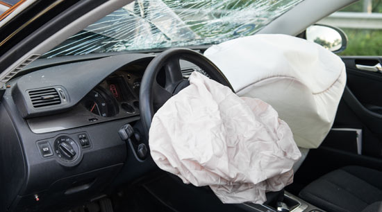 Takata recall airbags deployed during accident