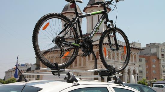 Audi VW bike and luggage rack on car