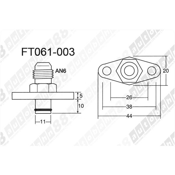Fuel Rail Delivery Adapter Regulator Mazda RX-7 RX7 FD3S