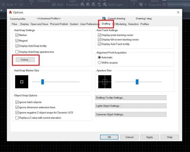 Change backround color in AutoCAD