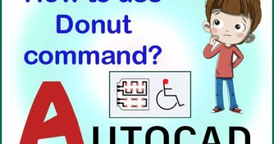 Donut command in AutoCAD