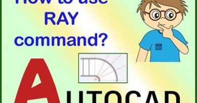 Ray Command in Autocad