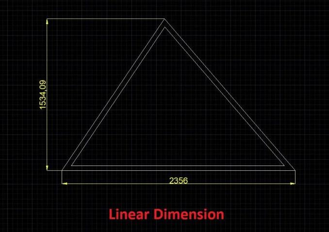 Linear dimension-AutoCAD